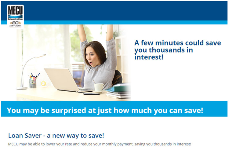 Loan Saver Marketing Design Example - MECU