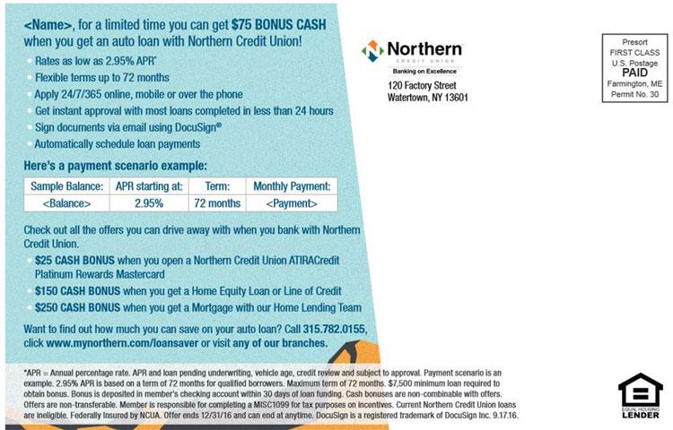 Northern CU Postcard 2 Back