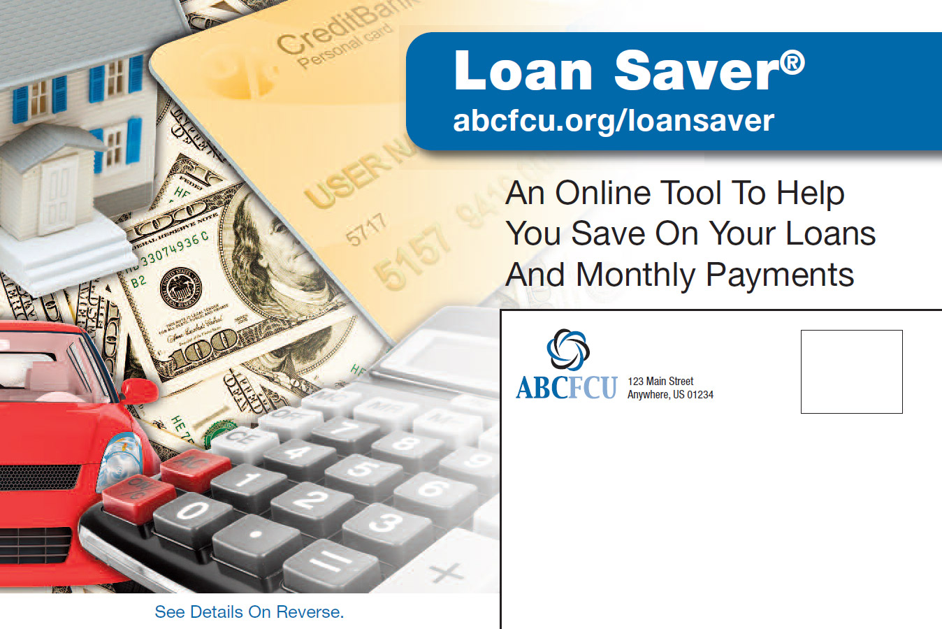 Loan Saver Marketing Design Postcard Sample